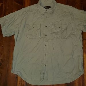 Woolrich Shirt 2XL XXL fishing khaki outdoor